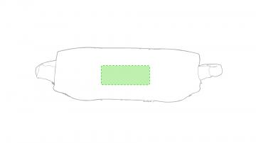 Impresión F-Centrado en la parte trasera de la cinta