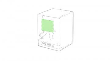 Impresión D-En el frente de la caja