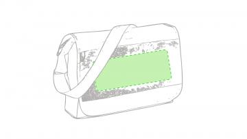 GRABACIÓN TRANSFER SERIGRÁFICO-En la zona de color de la solapa