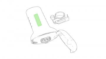 Impresión E-En la empuñadura de la linterna