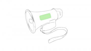 Impresión F-En el lateral del altavoz cara a
