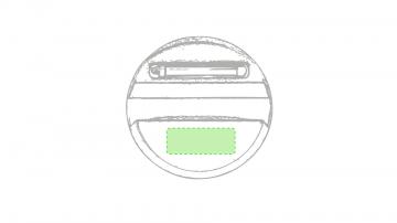 Impresión E-En la parte del soporte