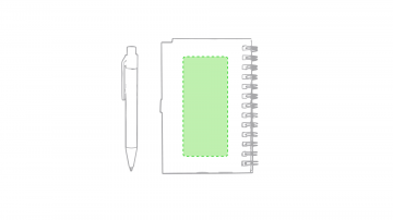 Impresión D-En la contraportada de la libreta