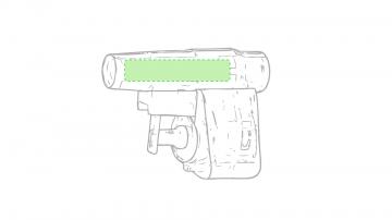 Impresión B-En el cuerpo (cañón de la pistola)
