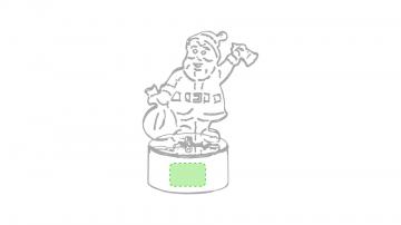 Impresión D-En la base del papa noel