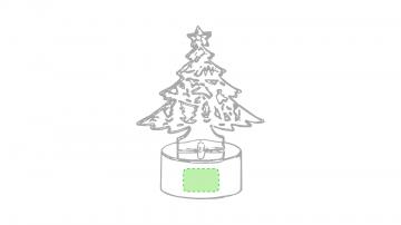 Impresión D-En la base del arbol de navidad