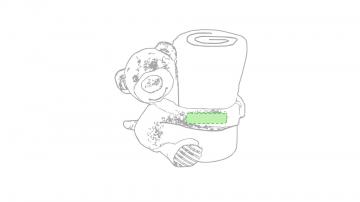 GRABACIÓN TRANSFER SERIGRÁFICO-En un brazo del muñeco