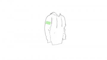 Impresión E-En el pecho izquierdo tipo bolsillo