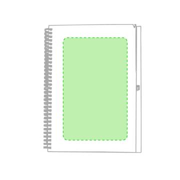 Impresión E-En la trasera de la libreta