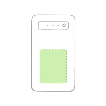Impresión E-Centrado en la zona blanca