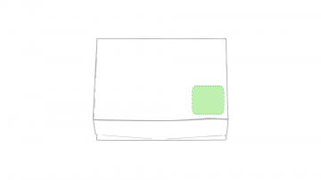 Impresión E-En la caja, esquina inferior derecha
