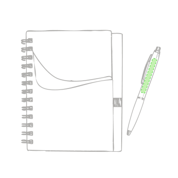 Impresión E-En la portada de la libreta