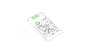 Impresión D-Caja de presentación parte superior