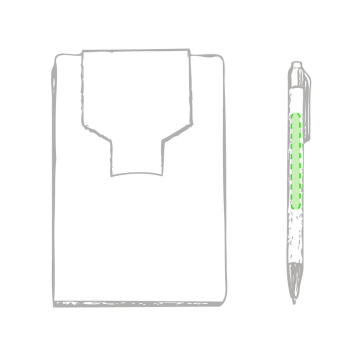 Impresión D-En la portada de la libreta