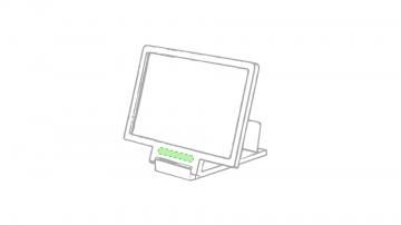 Impresión E-Parte frontal del soporte