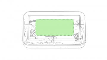 Impresión E-Caja de presentación parte superior