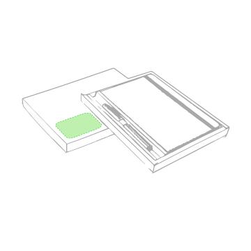 Impresión B-En el bolígrafo zona clip cara a
