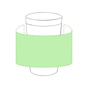 Impresión F-Centrado alrededor de la taza