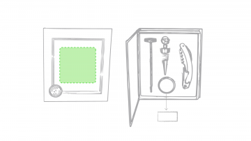 Impresión E-En la caja de presentación