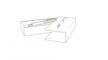 Laser L-En la zona del clip