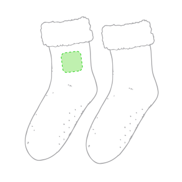 GRABACIÓN TRANSFER SERIGRÁFICO-En un calcetín en la zona tobillo lateral
