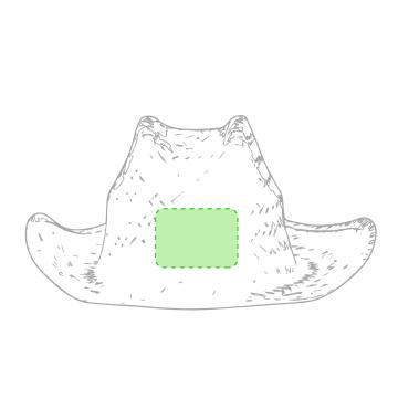 Impresión F-Frontal del sombrero
