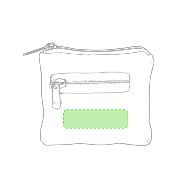 Impresión E-En el bolsillo, debajo de la cremallera
