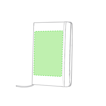 Impresión E-Sobre la portada a la izquierda del elástico
