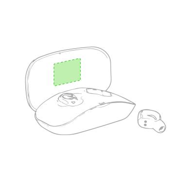 Impresión F-En la tapa de la caja de presentación