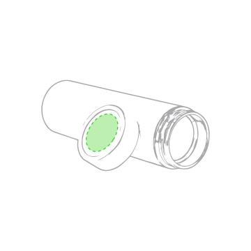 Laser L-Tapón centrado