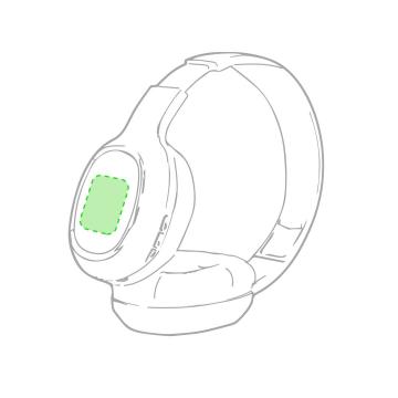 Impresión F-Sobre el auricular izquierdo