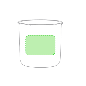Sublimación Q-Centrado en el frente de la taza
