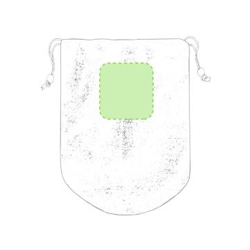 Bordado P5-En la parte superior cara a. Puntadas máximas 30% de la superficie