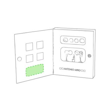 Impresión E-En la caja de presentación zona inferior