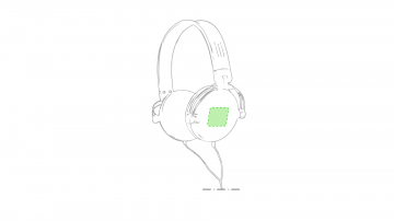 Impresión F-Sobre el auricular derechos