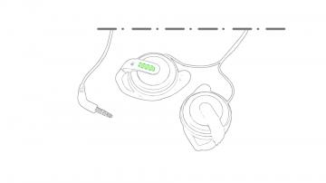 Impresión E-En la pestaña del auricular derecho