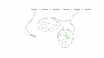 Impresión E-En la pestaña del auricular izquierdo