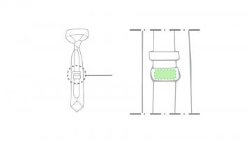 Impresión J-En el reverso (en la etiqueta para logo)