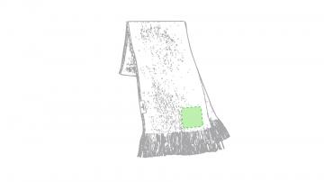 Impresión J-En el extremo de la bufanda