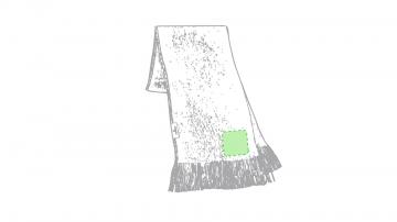 Bordado P5-En el extremo de la bufanda. Puntadas máximas 30% de la superficie