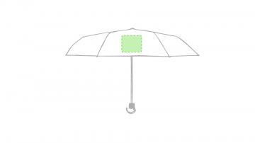 Impresión H-En un panel del paraguas
