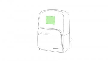 Impresión I-En el frontal de la mochila