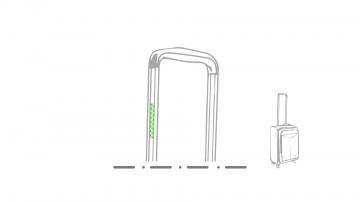 Impresión I-En el asa de la maleta