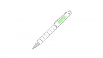 Laser L-En el bolígrafo, zona clip cara a