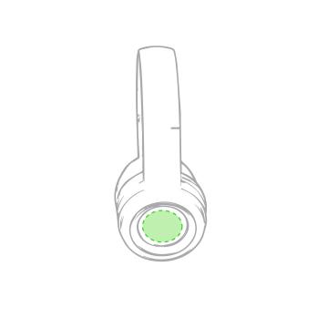 Impresión G-Sobre el auricular derecho