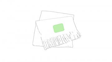 Impresión F-En el extremo de la bufanda