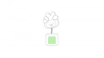 Impresión C-En la base de producto verde
