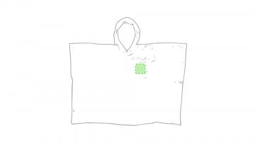 Impresión H-En el pecho derecha tipo bolsillo