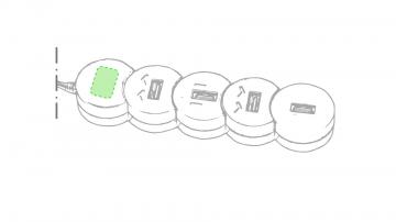 Impresión E-Sobre el circulo inferior de color rojo
