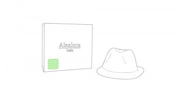 Impresión D-En la caja de presentación, en la esquina